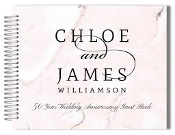anniversary guest book blush marble anniversary guest book anniversary guest books