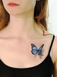 3d butterfly on left front shoulder
