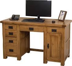 Oak Computer Desks Uk Cotswold Oak Computer Desk I Free Uk Delivery