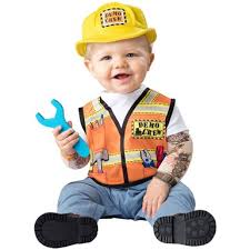 construction worker costume infant demo crew costume baby construction worker costume
