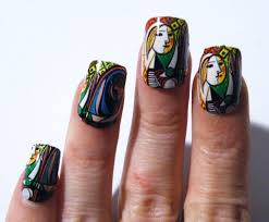 mani pedi abstract woman picasso nail polish art nails art history