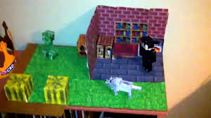 minecraft paper craft the house youtube