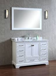 Abbey Inch Bathroom Vanity CarraraWhite Includes Italian - Bella 48 inch bathroom vanity white