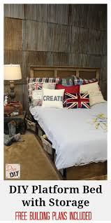 Make A Platform Bed With Storage by Build Platform Bed With Storage Storage Decorations