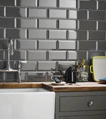 grey gloss kitchen wall tiles outofhome