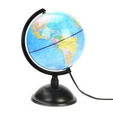 led world map world globe rotating swivel map of earth geography