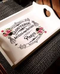 themed serving tray shabby chic wooden serving tray themed wooden tray black and