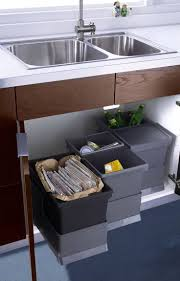Bathroom Under Sink Storage Ideas by Under Sink Garbage Can Track Best Sink Decoration