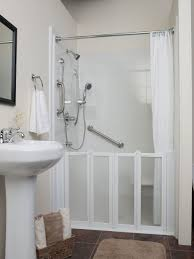 Bathroom With Open Shower Uncategorized Open Shower Stall In Brilliant Bathroom Doorless