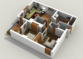 architecture cottage 3d home design with 3 floors home using 3d