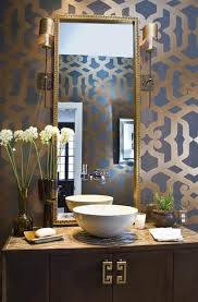 Tall Wall Mirrors Interior Modern Contemporary Gold Accent Powder Room With Small