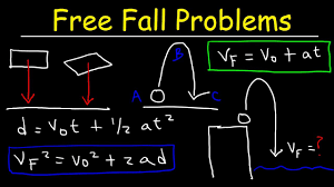 free fall physics problems u0026 solutions acceleration due to