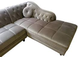 canapé chesterfield angle canape angle velours canapac dangle en velours bleu pastel