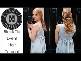 hairstyles for black tie black tie event hairstyle youtube