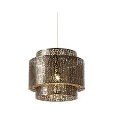 Metal Ceiling Light Shades Endon Ne Bramham Bz Bronze Metal Decorated Ceiling Light Shade