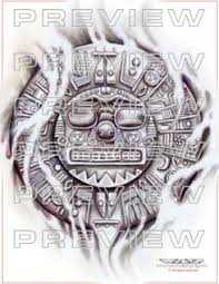 amazing inti inca sun god design aztec ideas
