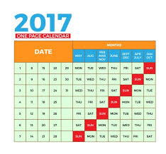 one page calendars 2018 exol gbabogados co