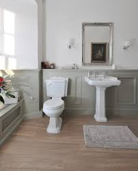 Grey Border Tiles Manor House Grey Bathroom Traditional With Toilet Paper Holder