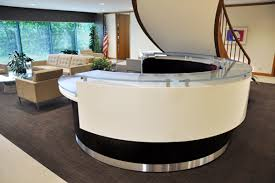 Circle Reception Desk by Modern Reception Counters Home Design Ideas