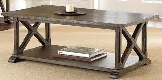 weathered pine coffee table southfield weathered pine cocktail table from steve silver sf300c
