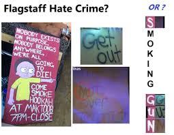 pol tracks down the person who vandalised a flagstaff hookah bar