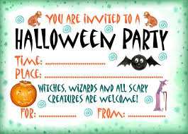 you are invited to a free halloween party invitation templates and