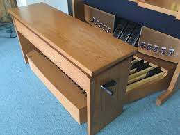 Organ Bench New Rodgers Model 579 With Bench In Medium Oak Case Also With New