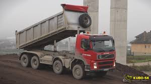volvo trucks youtube volvo fm 440 8x6 dump truck unload quarry stone youtube