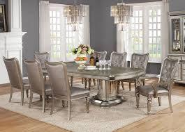 formal dining room set formal dining room set platinum finish