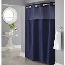 Polyester Shower Curtains Hookless Navy Mystery Polyester Shower Curtain Walmart