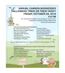 annual carson businesses halloween trick or treat night glenwood