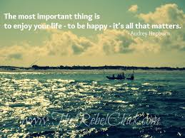 quotes about being happy with your life embracing destiny for peace and the picture of the beach most