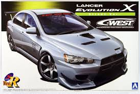 mitsubishi evolution 1 aoshima 49013 mitsubishi lancer evolution x c west street version