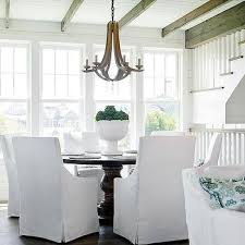 Windsor Chair Slipcovers Dining Room Best Chair White Slipcovered Chairs Outstanding Inside