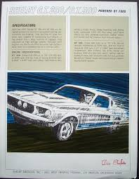 1967 ford mustang shelby gt350 for sale 1967 ford mustang shelby gt 350 500 sales flyer dan chefetz dealer