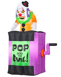 halloween inflateables animated jack in the box airblown inflatable u2013 spirit halloween