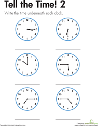 telling the time made easy worksheet education com