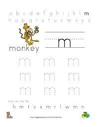 Kids Writing Worksheets Worksheet Letter M Worksheets For Kindergarten Fiercebad
