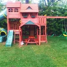 Backyard Swing Set Ideas by Exterior Wooden Swing Set Ideas With Gorilla Playset For Your