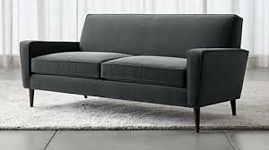 slim two seater sofa sofas couches and loveseats crate and barrel