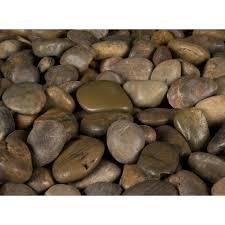 Decorative Stone Home Depot Ms International 40 Lb Imperial Beach River Rock Bag