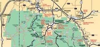 south dakota map with cities black maps for mt rushmore sturgis custer state park