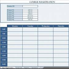 free data collection templates on excel course registration