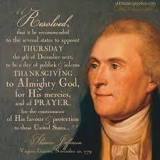 jefferson s thanksgiving proclamation