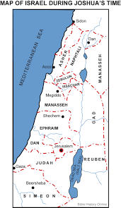 Exodus Route Map by Map Of Israel During Joshua U0027s Time Bible History Online