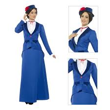 smiffys adults victorian nanny fancy dress costume womens new