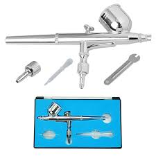 voilamart dual action gravity airbrush 0 2mm air brush spray gun