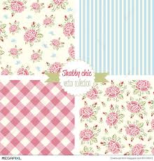 shabby chic rose patterns set seamless pattern vintage floral