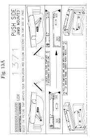 patent us6317996 installation template for a door closer