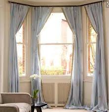Window Curtains Rods A Tale Of A Bay Window Curtain Rod My Decorating Tips